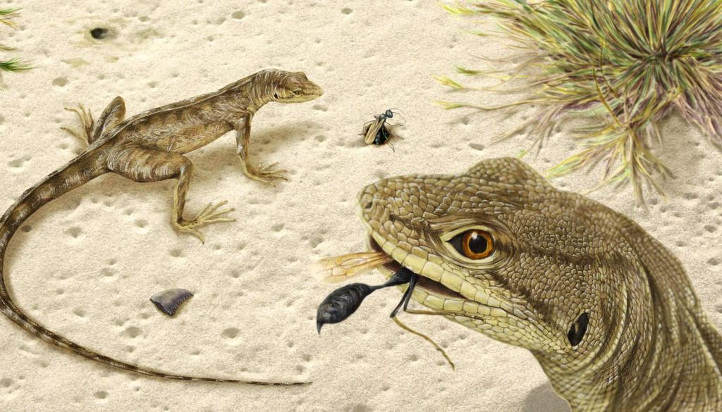 Древние амфибии охотились как хамелеоны: в янтаре обнаружен язык, которому 99 млн лет
