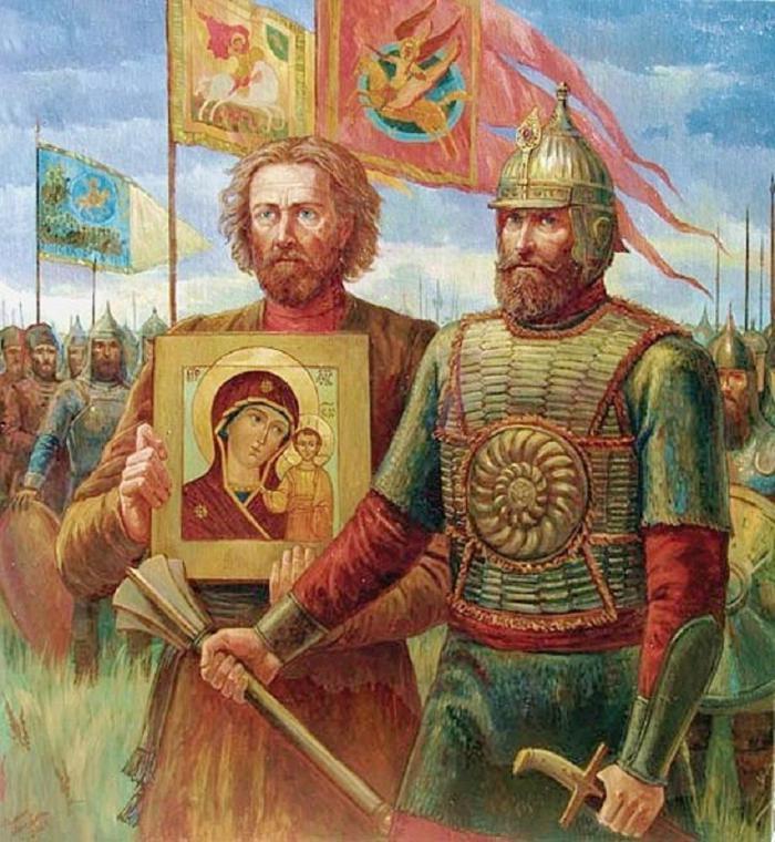 Ополчение шло с Казанской иконой Божией Матери