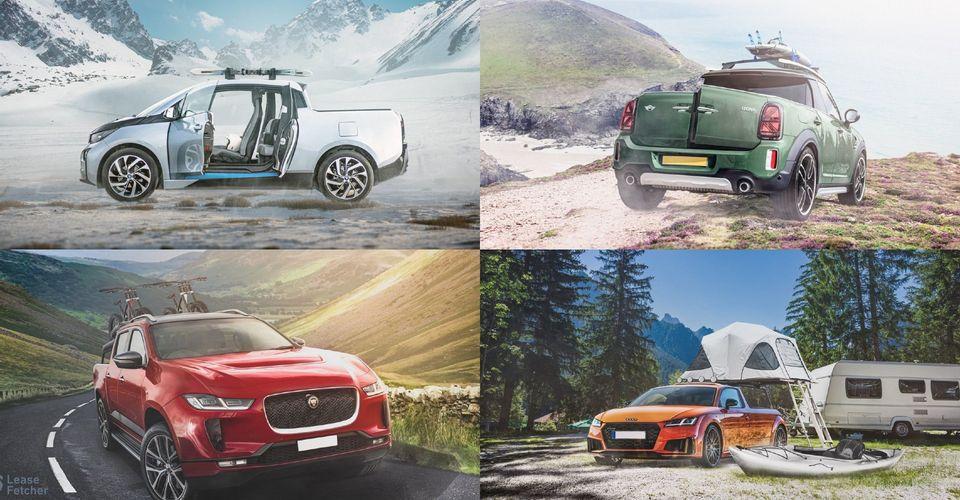Как бы выглядели автомобили Audi, Jaguar, Tesla и другие, если представить их пикапами (фото)