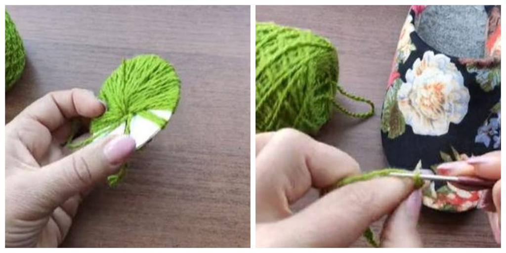 Как будто новые: женщина обновила тапочки (стали яркими, с зелеными бубонами)