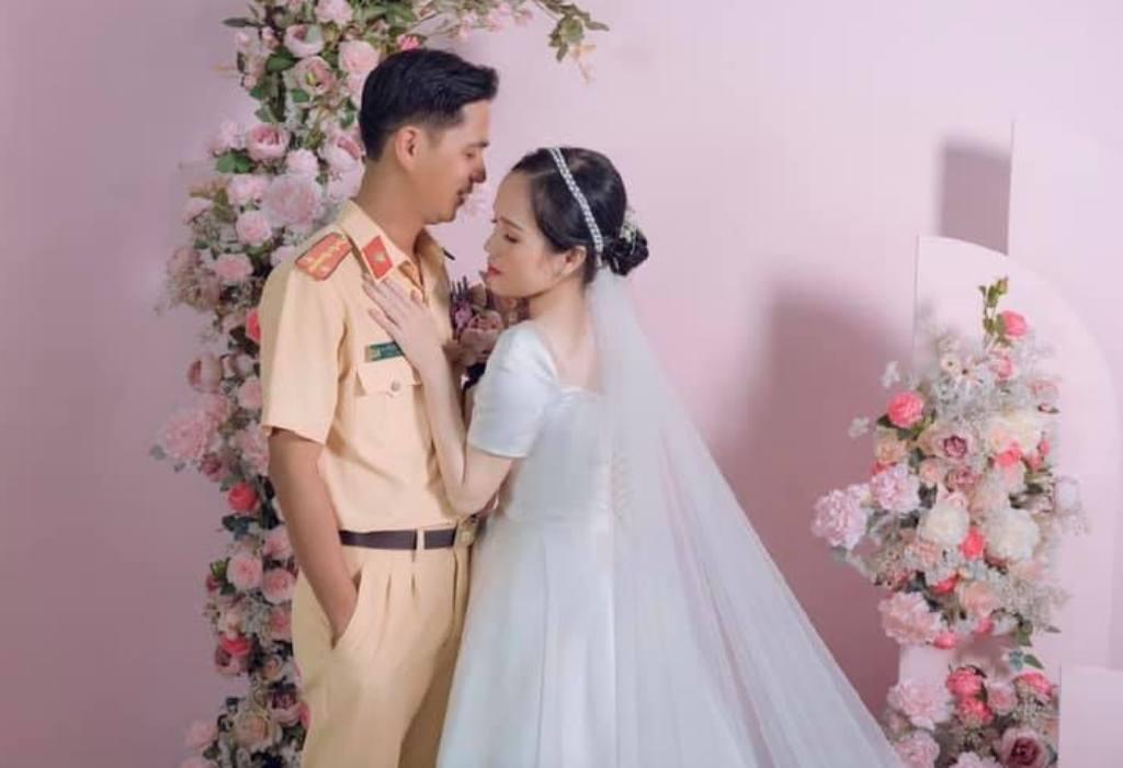 """Встретились """"на работе"""": полицейский остановил девушку за нарушение, а через год позвал замуж (свадебные фото)"""
