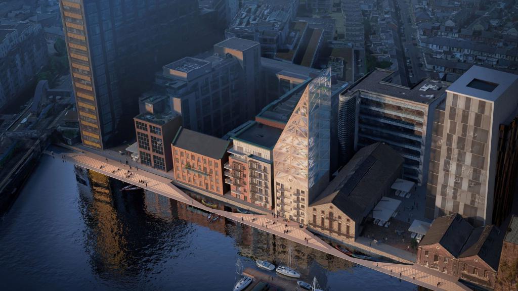 Архитекторы решили переделать старое здание мельницы в Дублине.<span id=