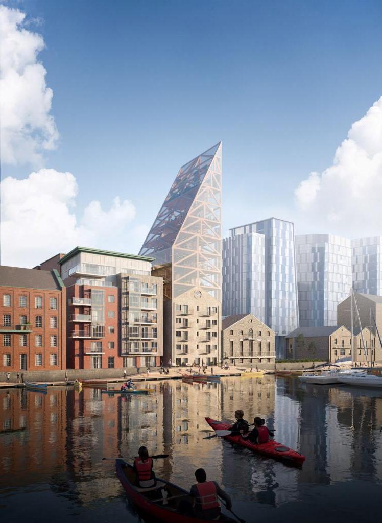 Архитекторы решили переделать старое здание мельницы в Дублине. Новое 50-метровое строение станет одним из самых высоких деревянных зданий в Европе