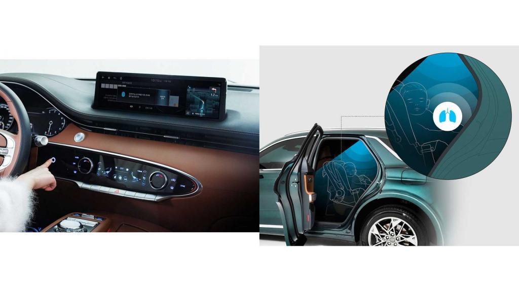 """Чтобы не """"забыть"""" ребенка в автомобиле: Genesis GV70 оснащен датчиком для определения дыхания"""