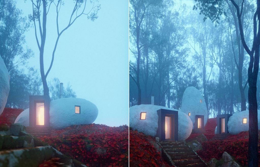 Брат с сестрой построили дома в виде дольменов: как они выглядят внутри