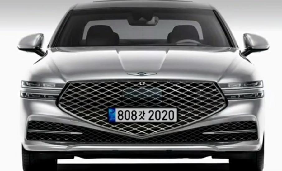Поступит в продажу в 2022: новый седан Genesis G90 показали на шпионских фотографиях
