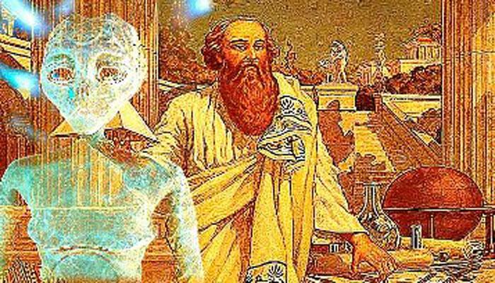 Он использовал силу биолокации: Аристотель говорил, что у Пифагора было золотое бедро и он - сын бога Аполлона