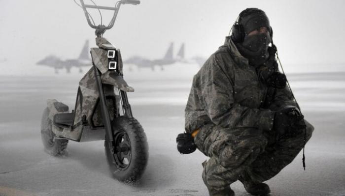 В Латвии создали электросамокат-внедорожник, предназначенный для военных и гражданских целей