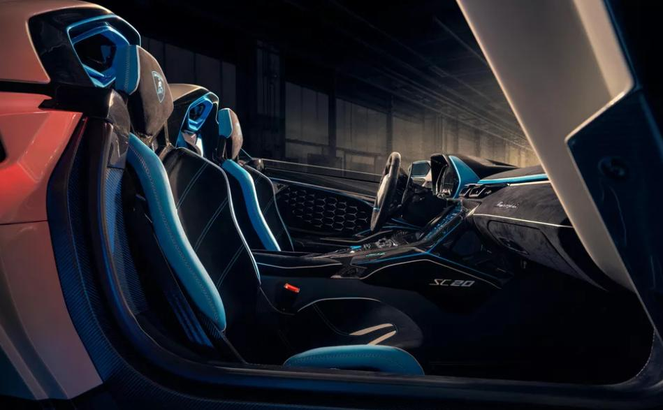 Суперкар SC20 без крыши - самый необычный автомобиль Lamborghini без лобового стекла с двигателем V12 мощностью 759 л.с.