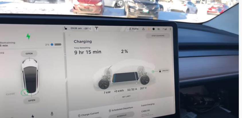 Электромобиль Tesla отказался заряжаться на морозе: житель Канады поделился опытом эксплуатации в холодную пору
