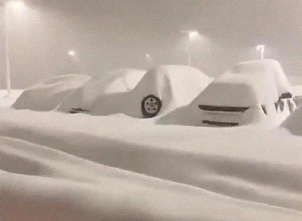 Рекордный снег выпал в американском городе Бингемтон, штат Нью-Йорк: жители опубликовали в Сети фото того, что они увидели утром