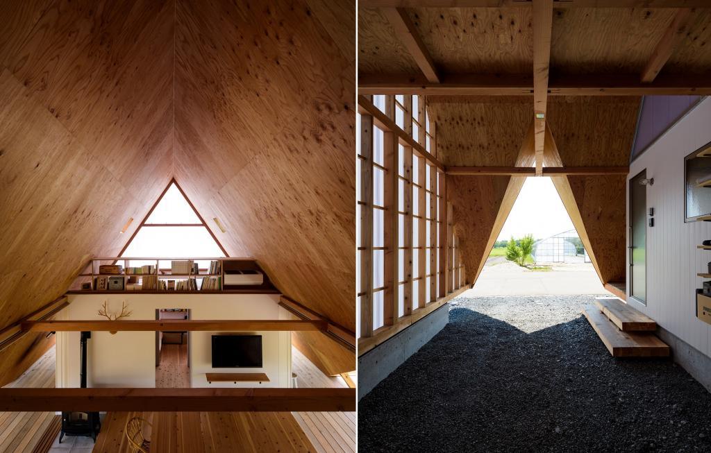 Семья из Японии попросила построить им деревенский шатровый дом. Он выглядит как палатка