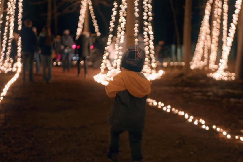 Можно осветить кемпинг: аккумулятор Rivian R1T зажег 20 000 рождественских огней