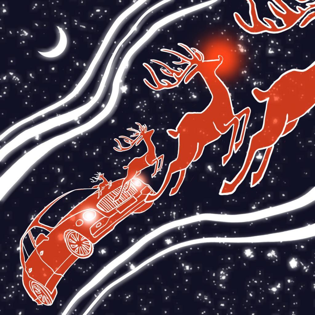 Компания Bentley пересадит Санта-Клауса на седан Flying Spur: представлен праздничный вариант модели