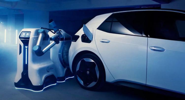 У Volkswagen готов прототип робота для зарядки электромобилей
