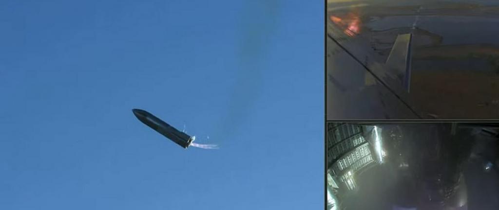 Владелец SpaceX Илон Маск счел запуск успешным: взлет, маневры в полете и взрывная посадка звездолета SN8