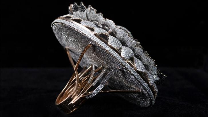 Нет пределов совершенству: ювелир из Индии попал в Книгу рекордов Гиннесса, создав кольцо, в котором более 12 тыс. бриллиантов
