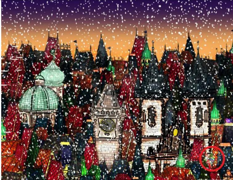 Головоломка от чешского агентства CzechTourism: найдите рождественскую елку среди шпилей пражского городского пейзажа (без подсказки с заданием справляются единицы)
