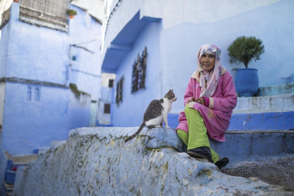 Марокко: как живет без туристов знаменитый синий городок Шефшауэн (Шавен) в условиях пандемии (фото)