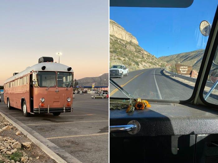 Подруги и их собака живут в автобусе, который они превратили в современный дом мечты на колесах: заглянем внутрь