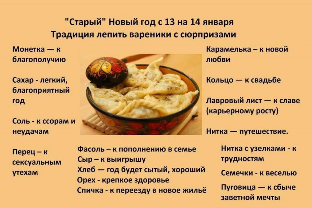 Вареники с сюрпризом и другие поверья на Старый Новый год, который отмечают не только в России