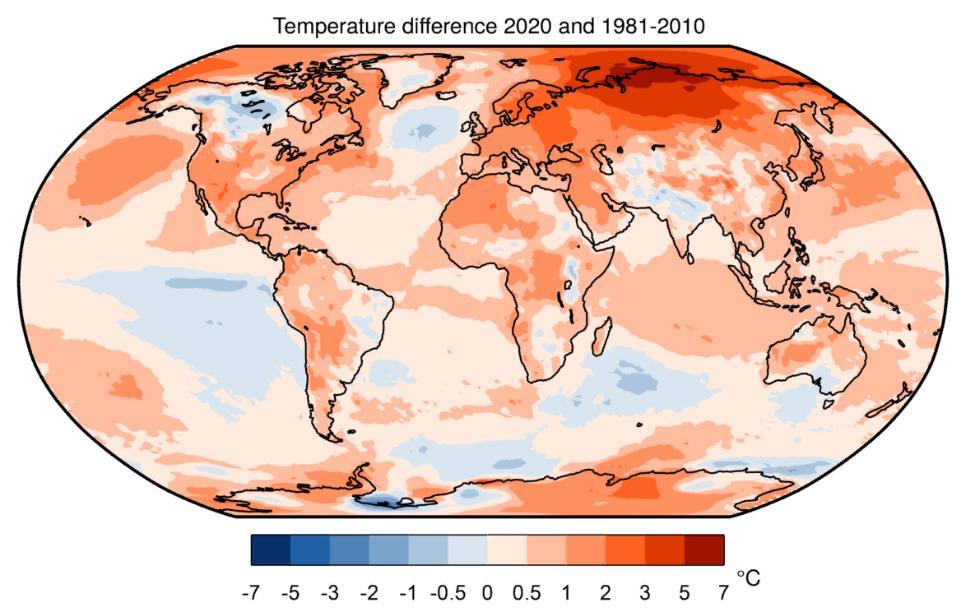 2020 год оказался самым жарким годом в истории, а сравниться с ним в этом может только 2016 год