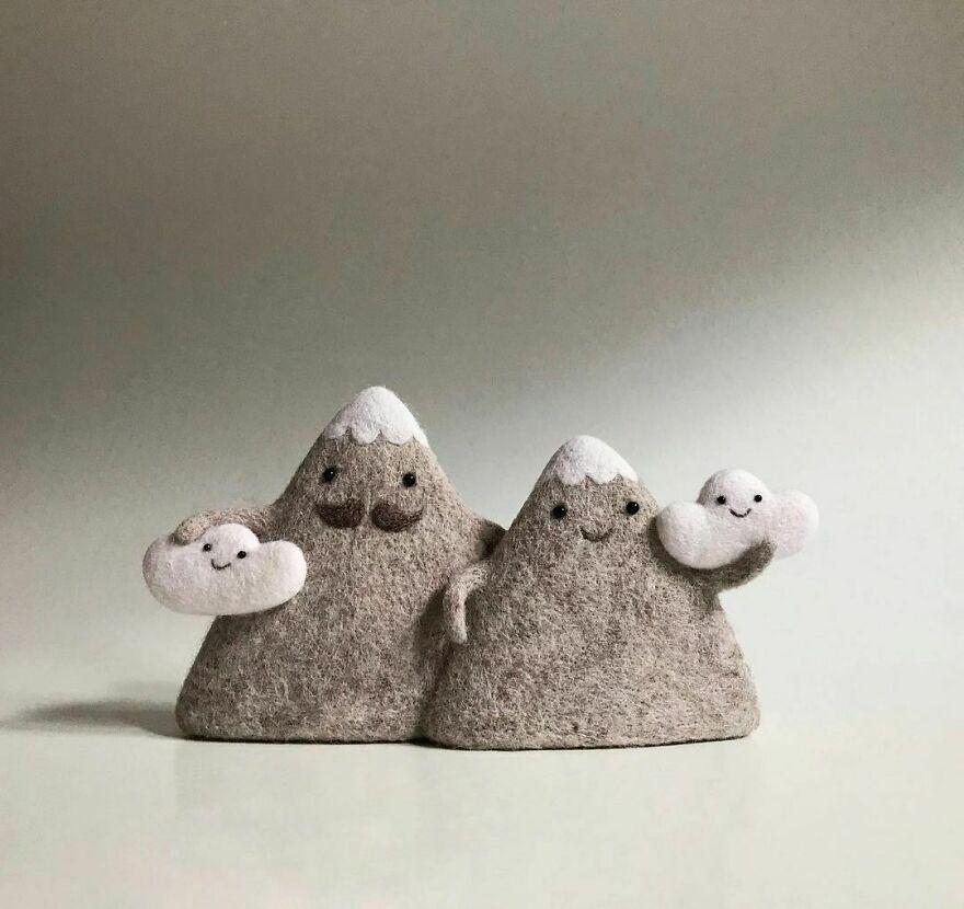 Анна и Ольга Довгань, художницы из Украины, создают милые игрушки из валяной шерсти