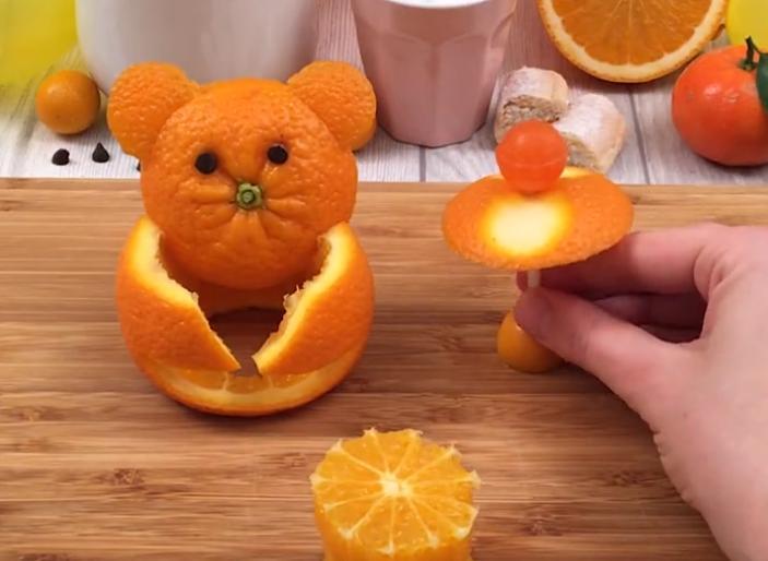 Десерт, заряженный витамином С: готовлю детям апельсиновый тирамису и украшаю тортик мишками из кожуры