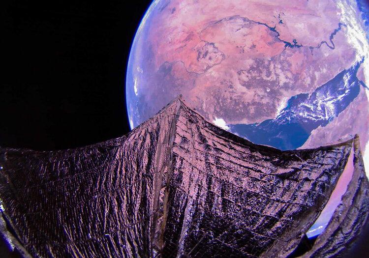 """""""Небесные ветра"""" позволят громадному солнечному парусу Solar Cruiser обогнать любой существующий космический корабль"""