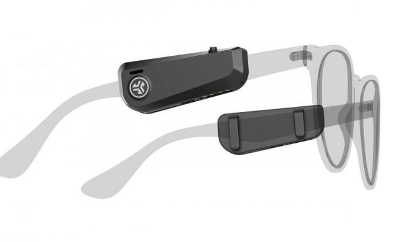 Американская аудиокомпания JLab разработала аудиогаджет JBuds Frames: необычные наушники, которые крепятся к очкам