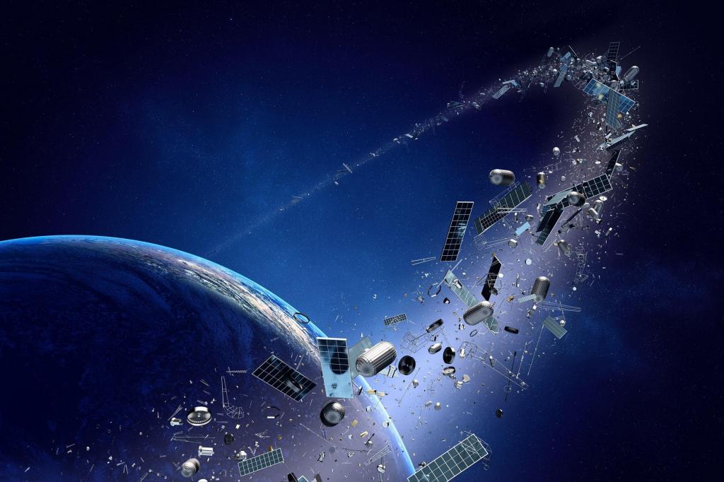 Космический мусор, оставленный людьми, летает на низкой околоземной орбите (исследование)