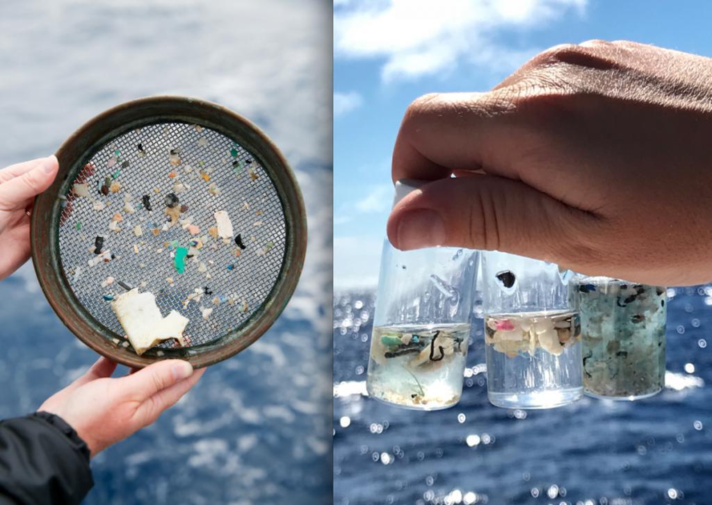 Полиэфирные волокна из синтетического текстиля составляют почти 3/4 микропластика на поверхности Северного Ледовитого океана