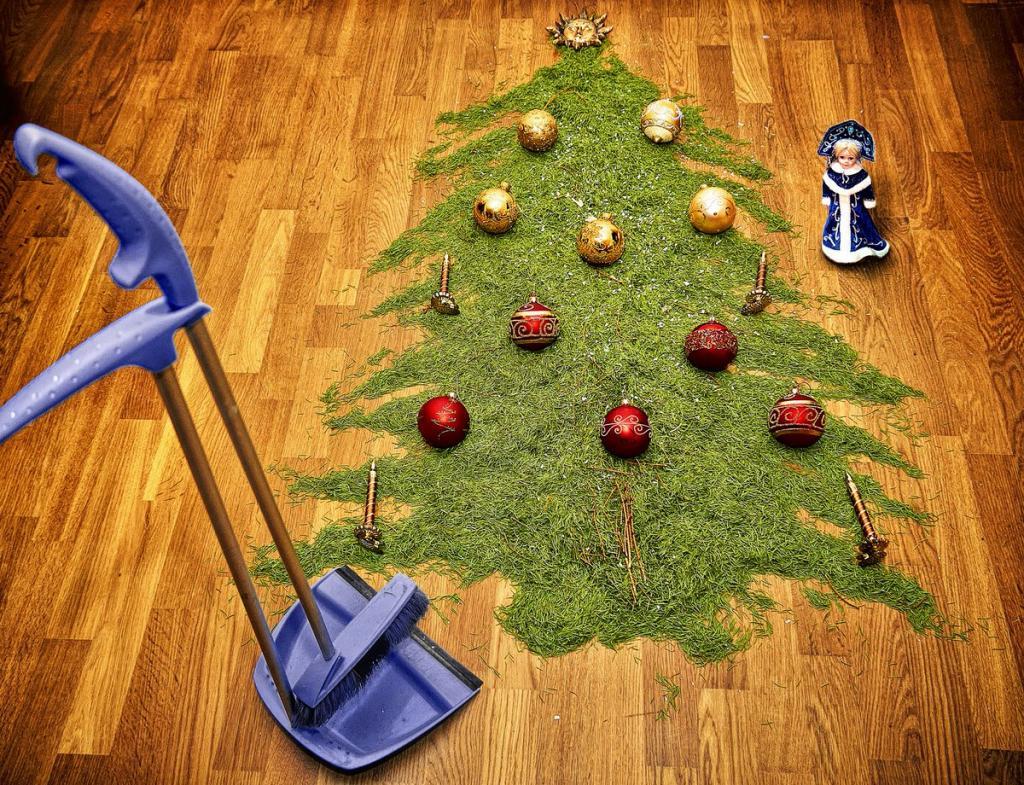 По церковным канонам, фэншуй и из гигиенических соображений: когда и как правильно убирать елку