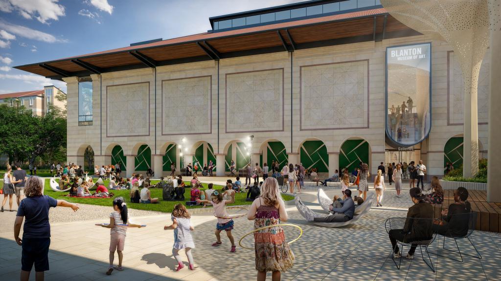 Необычный лепестковый навес украсит университетский музей искусств в Техасе