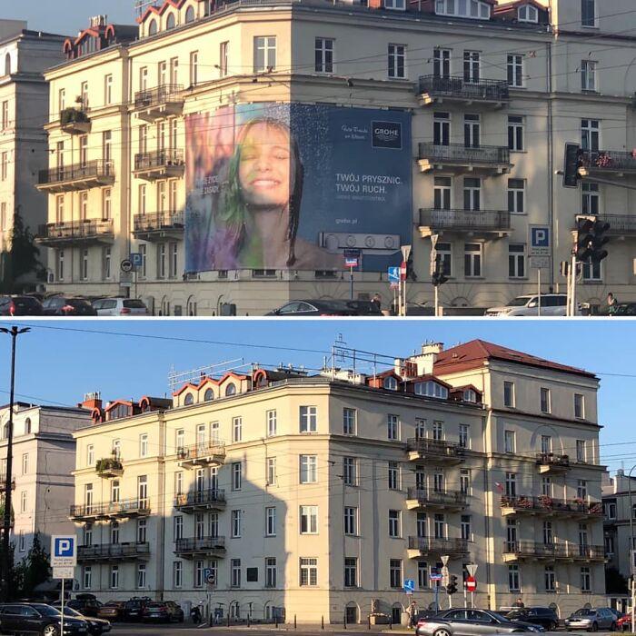 """С фасадов зданий в Польше решили убрать яркие """"кричащие"""" баннеры и рекламу. Реформа пошла исключительно на пользу"""
