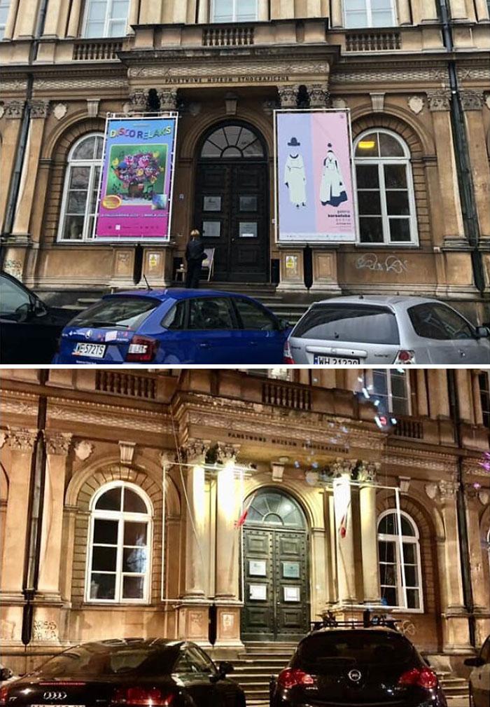 Поляки всерьез занялись демонтажем наружной рекламы, которая портит облик городов: фото до и после