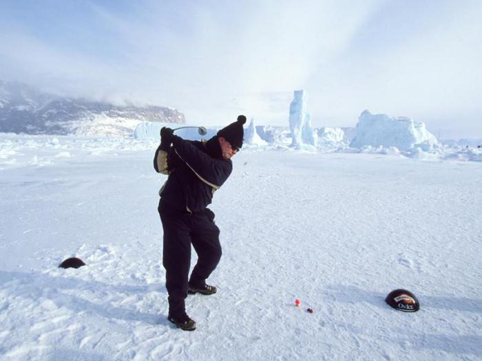 Гольф на снегу