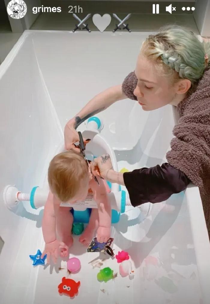 Девушка Илона Маска подстригла их совместного сына, и люди посчитали выбор прически ошибкой