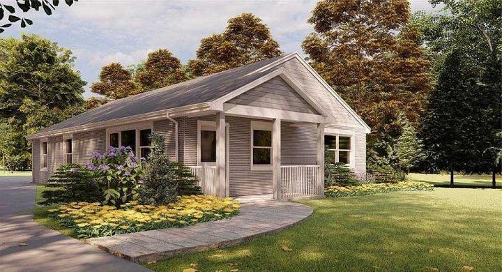 Первый дом в США, напечатанный на 3D-принтере, выставлен на продажу в Нью-Йорке (фото снаружи и внутри)