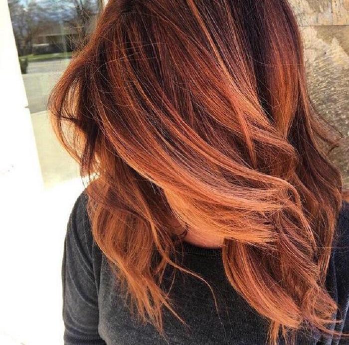 Для любительниц огненных оттенков: самые модные варианты окрашивания волос в технике балаяж