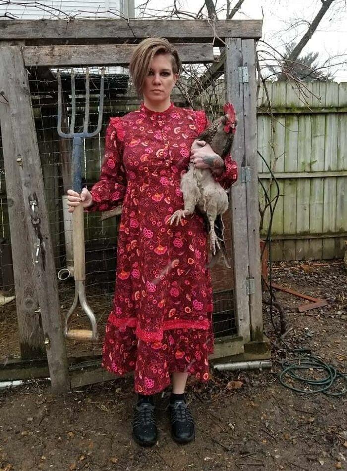 В популярном магазине появилось платье в фермерском стиле. Фермеры не удержались и устроили челлендж
