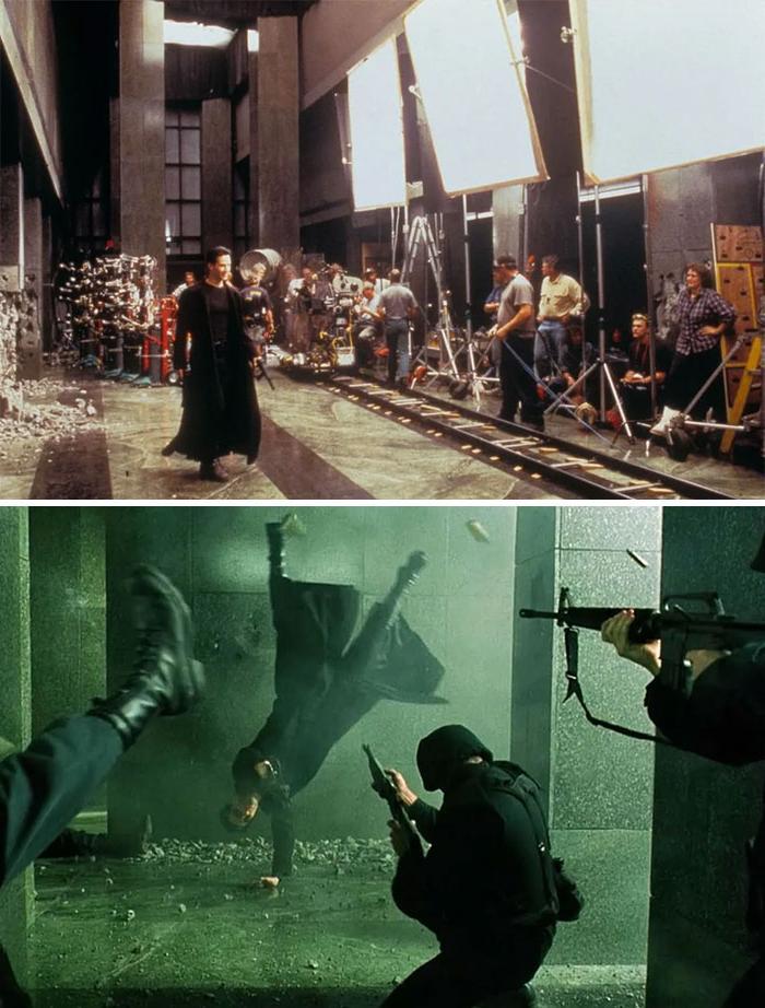 Что на самом деле было за кадром: 10 фото, показывающих, как снимались культовые фильмы