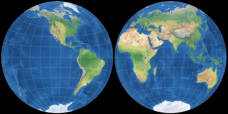 Создана первая точная плоская карта мира. Во всех остальных есть искажения