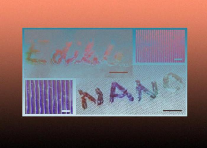 Учеными разработана технология производства съедобных голограмм для продуктов