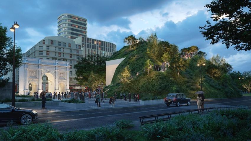 В Лондоне строят панорамный холм высотой 25 метров, который позволит иначе взглянуть на город