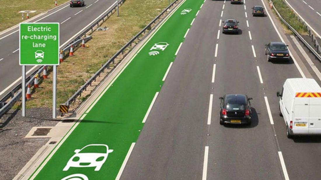 Электрические магистрали помогут заряжать электромобили во время движения (6 фото)