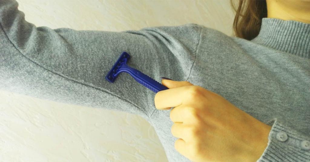 Эффективно удаляем катышки с одежды без дополнительных приспособлений - лайфхак
