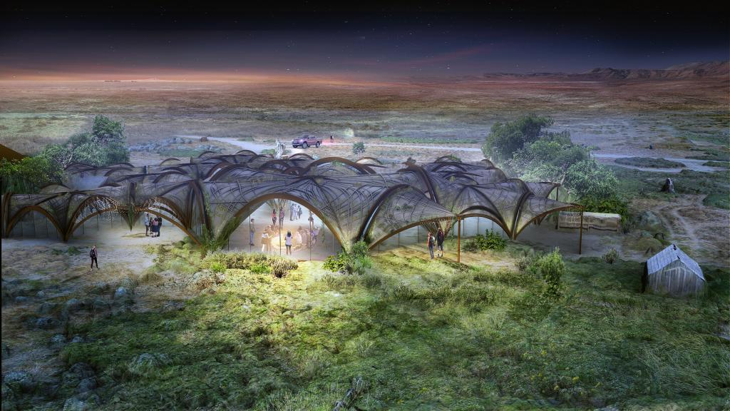 Дизайнеры попытались представить современный оазис в пустыне: что вышло