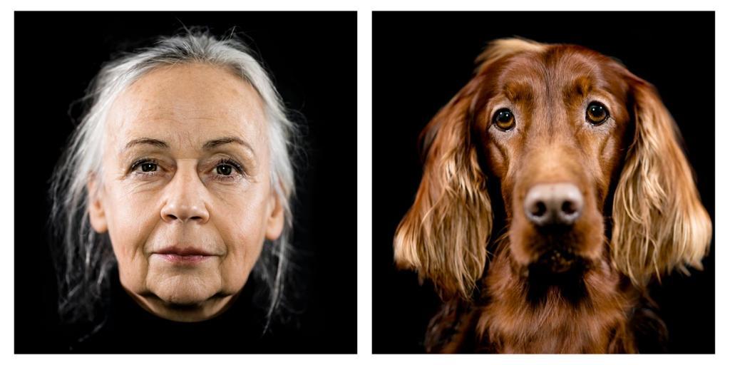 Фотопроект «На уровне глаз»: художник снимает собак и их владельцев, показывая сходства и различия