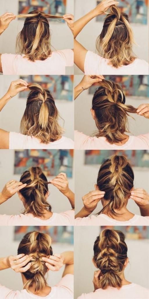 Если падающие на лицо распущенные локоны начали раздражать, можно быстро собрать их в стильную прическу: варианты для волос средней длины
